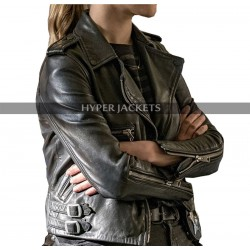Chicago P.D Hailey Upton Tracy Spiridakos Brando Black Leather Jacket