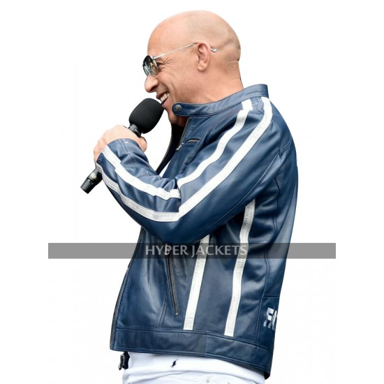 Fast and Furious 9 Vin Diesel FF9 Fatherhood Blue Leather Jacket