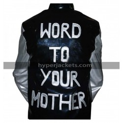 Vanilla Ice Hooked Word To Your Mother Black & Silver Leather Jacket