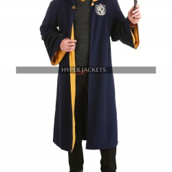Fantastic Beasts and Where to Find Them Newt Scamander Hufflepuff Cosplay Coat