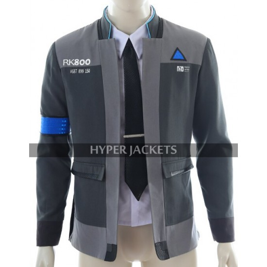 Detroit Become Human Connor Android RK800 Cosplay Blazer Jacket