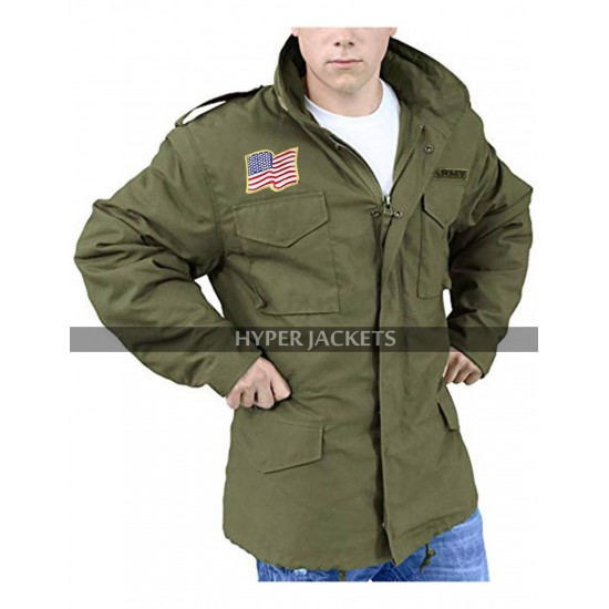 Rambo 5 Last Blood Sylvester Stallone Army Green Military Field Cotton Jacket