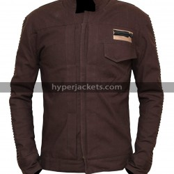 Rogue One A Star Wars Story Diego Luna Cassian Andor Brown Cotton Jacket