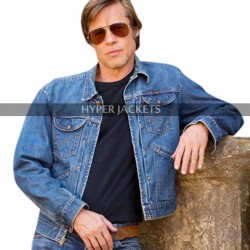 Once Upon A Time In Hollywood Cliff Brad Pitt Blue Denim Jacket