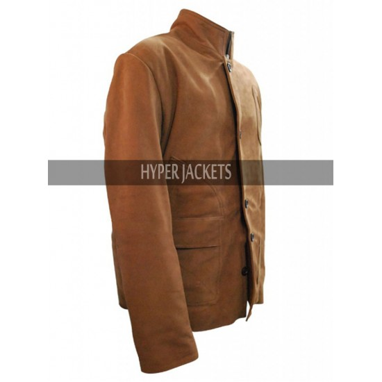Stephen Amell Oliver Queen Arrow Desert Leather Jacket