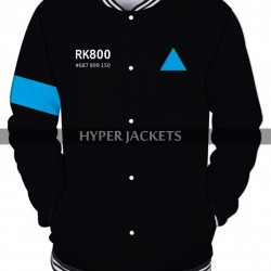 Detroit Become Human Connor Android RK800 Wool Varsity Bomber Jacket