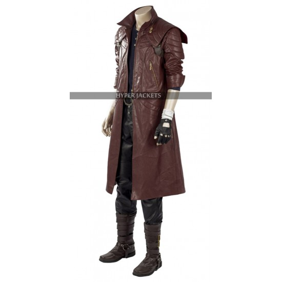 DMC 5 Devil May Cry Cosplay Costume Dante Leather Coat