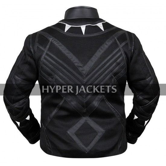 Black Panther Avengers Infinity War T'Challa Costume Black Leather Jacket