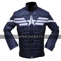 Captain America Winter Soldier Steve Chris Evans Blue Costume Jacket