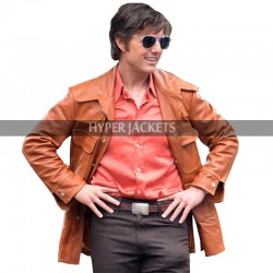 Barry Seal American Made Tom Cruise Tan Brown Leather Jacket