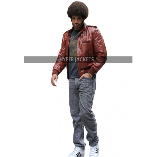 Anchorman 2 The Legend Continues Aubrey Drake Brown Bomber Leather Jacket