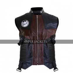 Jeremy Renner Avengers Age Of Ultron Hawkeye Clint Costume Leather Vest