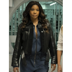 Gabrielle Union L.A.'s Finest Sydney Burnett Black Leather Jacket