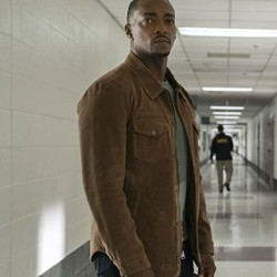 Anthony Mackie The Falcon And The Winter Soldier 2021 Brown Cotton Jacket