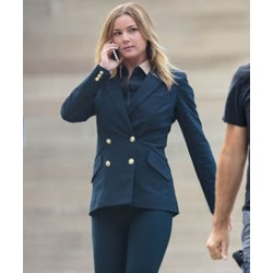 Emily VanCamp The Falcon and the Winter Soldier Double-Breaste Sharon Carter Blue Blazer