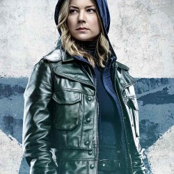 Emily VanCamp TV Series The Falcon and the Winter Soldier Sharon Carter Leather jacket