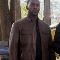 The Falcon and the Winter Soldier (2021) Anthony Mackie Brown Leather Jacket