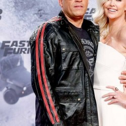 FAST AND FURIOUS 9 VIN DIESEL PREMIERE BLACK LEATHER JACKET