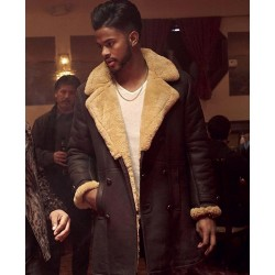 SuperFly Shearling Brown Leather Coat Trevor Jackson