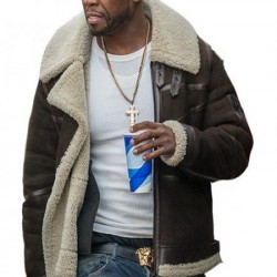 Suede Shearling Leather Jacket For TV Series power